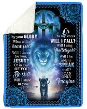 "God - Lion - Fleece Blanket Large Sherpa Fleece Blanket - 60"" x 80"" thumbnail"