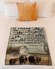"""FLEECE BLANKET - GOD - COW Small Fleece Blanket - 30"""" x 40"""" aos-coral-fleece-blanket-30x40-lifestyle-front-04"""
