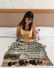 """FLEECE BLANKET - GOD - COW Small Fleece Blanket - 30"""" x 40"""" aos-coral-fleece-blanket-30x40-lifestyle-front-12"""