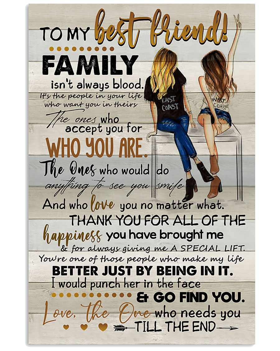 TO MY BESTIE - ART - THANK YOU 16x24 Poster