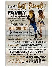 TO MY BESTIE - ART - THANK YOU 16x24 Poster front