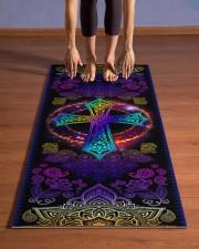 God - Cross - Yoga mats Yoga Mat 24x70 (vertical) aos-yoga-mat-lifestyle-26