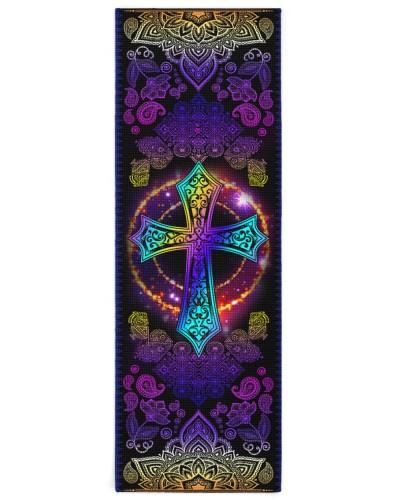 God - Cross - Yoga mats