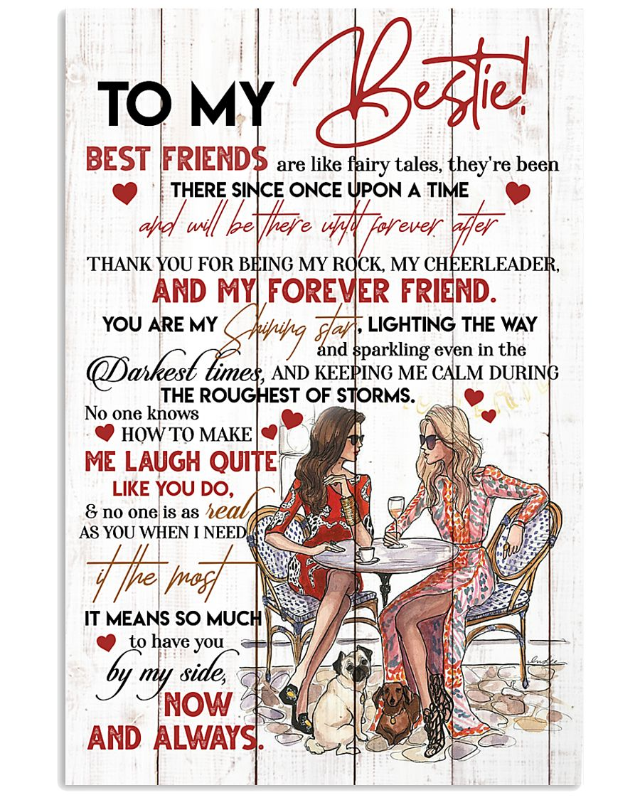 TO MY BESTIE - GIRLS - THANK YOU 16x24 Poster