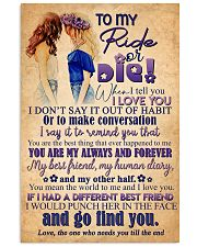TO MY RIDE OR DIE - GIRLS 16x24 Poster front
