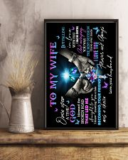 To My Wife - God - Poster 16x24 Poster lifestyle-poster-3