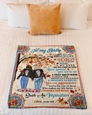 """Bestie - Fleece Blanket Small Fleece Blanket - 30"""" x 40"""" aos-coral-fleece-blanket-30x40-lifestyle-front-04"""