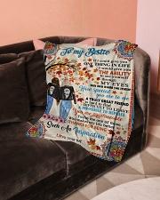 """Bestie - Fleece Blanket Small Fleece Blanket - 30"""" x 40"""" aos-coral-fleece-blanket-30x40-lifestyle-front-05"""