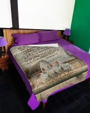 "FLEECE BLANKET - GOD - CHICKEN Large Fleece Blanket - 60"" x 80"" aos-coral-fleece-blanket-60x80-lifestyle-front-01"
