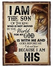 God - Lion - Son Of The King Fleece Blanket tile