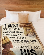 """God - Lion - Son Of The King Large Fleece Blanket - 60"""" x 80"""" aos-coral-fleece-blanket-60x80-lifestyle-front-02"""