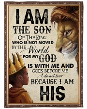"God - Lion - Son Of The King Large Fleece Blanket - 60"" x 80"" front"