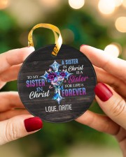 God - Sisters In Christ - Customized Circle ornament - single (porcelain) aos-circle-ornament-single-porcelain-lifestyles-08