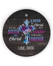 God - Sisters In Christ - Customized Circle Ornament (Wood tile