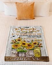 "FLEECE BLANKET - GOD - SUNFLOWER Small Fleece Blanket - 30"" x 40"" aos-coral-fleece-blanket-30x40-lifestyle-front-04"