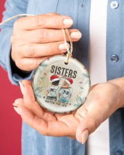 God - Sisters In Christ - Ornament Circle ornament - single (porcelain) aos-circle-ornament-single-porcelain-lifestyles-01