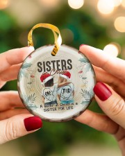 God - Sisters In Christ - Ornament Circle ornament - single (porcelain) aos-circle-ornament-single-porcelain-lifestyles-08
