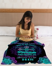 """God - Daughter Of The King - Fleece Blanket Small Fleece Blanket - 30"""" x 40"""" aos-coral-fleece-blanket-30x40-lifestyle-front-12"""