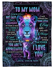 To My Mom - Lion - Fleece Blanket Fleece Blanket tile