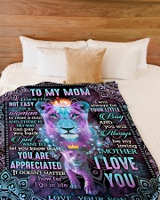 "To My Mom - Lion - Fleece Blanket Large Fleece Blanket - 60"" x 80"" aos-coral-fleece-blanket-60x80-lifestyle-front-02"