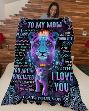 "To My Mom - Lion - Fleece Blanket Large Fleece Blanket - 60"" x 80"" aos-coral-fleece-blanket-60x80-lifestyle-front-04"
