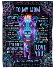 "To My Mom - Lion - Fleece Blanket Large Fleece Blanket - 60"" x 80"" front"
