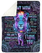 "To My Mom - Lion - Fleece Blanket Large Sherpa Fleece Blanket - 60"" x 80"" thumbnail"