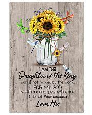 God - Sunflower - Daughter Of The King - Canvas Vertical Poster tile