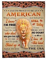God - Lion - Proud To Be - Fleece Blanket Fleece Blanket tile