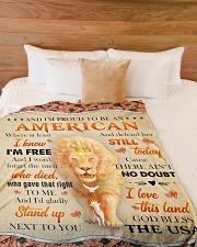 "God - Lion - Proud To Be - Fleece Blanket Large Fleece Blanket - 60"" x 80"" aos-coral-fleece-blanket-60x80-lifestyle-front-02"