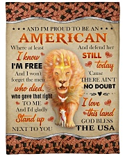 "God - Lion - Proud To Be - Fleece Blanket Large Fleece Blanket - 60"" x 80"" front"