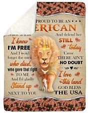 "God - Lion - Proud To Be - Fleece Blanket Large Sherpa Fleece Blanket - 60"" x 80"" thumbnail"
