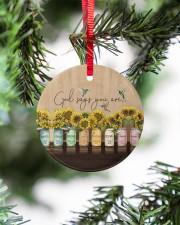 God Christmas - God Says You Are - Sunflower Circle ornament - single (porcelain) aos-circle-ornament-single-porcelain-lifestyles-07