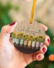 God Christmas - God Says You Are - Sunflower Circle ornament - single (porcelain) aos-circle-ornament-single-porcelain-lifestyles-09