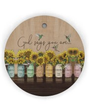God Christmas - God Says You Are - Sunflower Circle ornament - single (wood) thumbnail