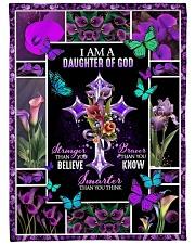 "God - Daughter Of God - Fleece Blanket Large Fleece Blanket - 60"" x 80"" front"