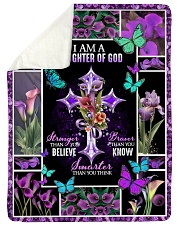 "God - Daughter Of God - Fleece Blanket Large Sherpa Fleece Blanket - 60"" x 80"" thumbnail"