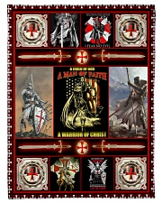 God - The Knights Templar - Fleece Blanket Fleece Blanket tile