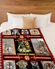 "God - The Knights Templar - Fleece Blanket Large Fleece Blanket - 60"" x 80"" aos-coral-fleece-blanket-60x80-lifestyle-front-02"