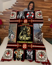 "God - The Knights Templar - Fleece Blanket Large Fleece Blanket - 60"" x 80"" aos-coral-fleece-blanket-60x80-lifestyle-front-04"