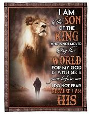 God - Son Of The King - Fleece Blanket Fleece Blanket tile