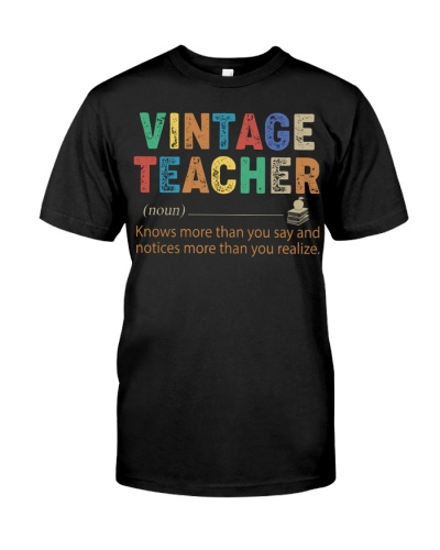 TEACHER - VINTAGE - KNOWS MORE THAN YOU SAY