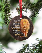 God - Daughter Of The King - Lion  Circle ornament - single (porcelain) aos-circle-ornament-single-porcelain-lifestyles-07