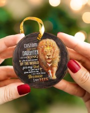 God - Daughter Of The King - Lion  Circle ornament - single (porcelain) aos-circle-ornament-single-porcelain-lifestyles-08
