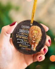 God - Daughter Of The King - Lion  Circle ornament - single (porcelain) aos-circle-ornament-single-porcelain-lifestyles-09
