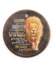 God - Daughter Of The King - Lion  Circle ornament - single (porcelain) front