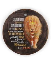 God - Daughter Of The King - Lion  Circle ornament - single (wood) thumbnail