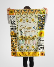 "GOD - SUNFLOWER - GOD SAYS YOU ARE Small Fleece Blanket - 30"" x 40"" aos-coral-fleece-blanket-30x40-lifestyle-front-14"