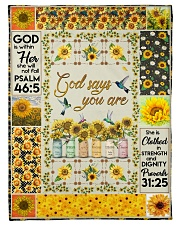 "GOD - SUNFLOWER - GOD SAYS YOU ARE Small Fleece Blanket - 30"" x 40"" front"