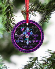 God - Daughter Of The King - Personalized  Circle ornament - single (porcelain) aos-circle-ornament-single-porcelain-lifestyles-07